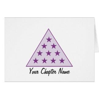 Púrpura de la pirámide de la sigma pi tarjeta de felicitación