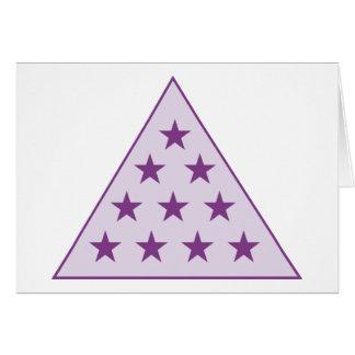 Púrpura de la pirámide de la sigma pi tarjeta pequeña