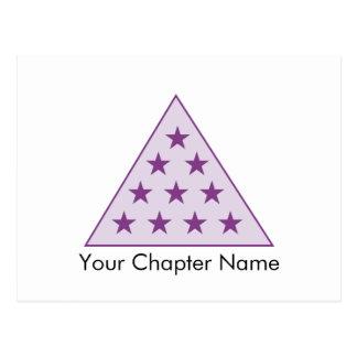 Púrpura de la pirámide de la sigma pi tarjetas postales
