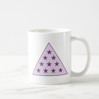Púrpura de la pirámide de la sigma pi taza de café
