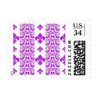 Púrpura de la raya 1 de Fleur Sellos