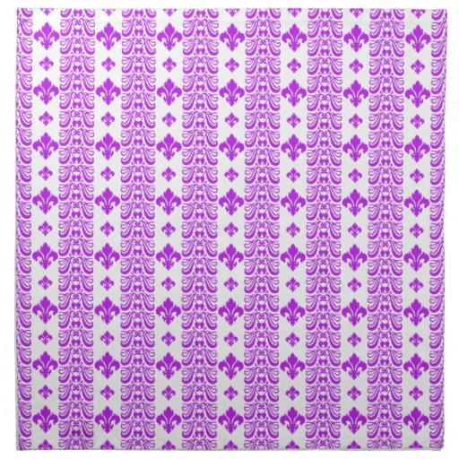 Púrpura de la raya 1 de Fleur Servilleta De Papel