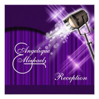 Púrpura de la recepción nupcial de Hollywood Comunicado Personalizado