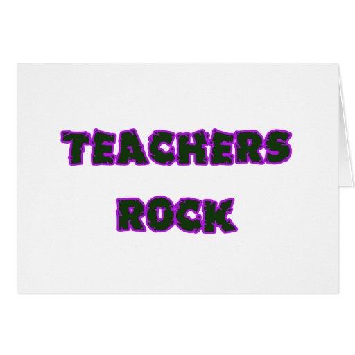 Púrpura de la roca del profesor tarjeta de felicitación