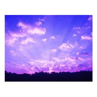 Púrpura de la salida del sol de Virginia Occidenta Tarjetas Postales