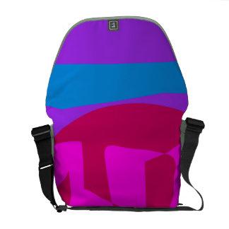 Púrpura de la sandía bolsas messenger