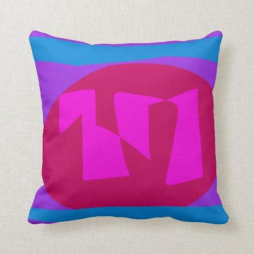 Púrpura de la sandía cojin