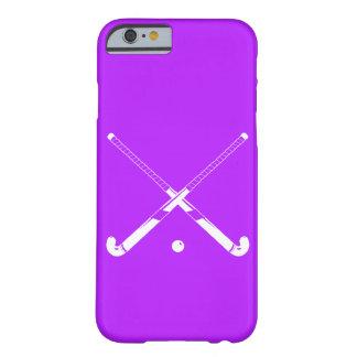 púrpura de la silueta del hockey hierba del iPhone