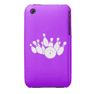 púrpura de la silueta del iPhone que rueda 3 Funda Para iPhone 3 De Case-Mate