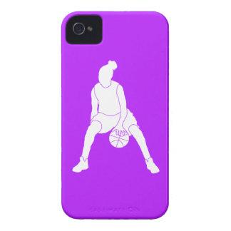 púrpura de la silueta del regate de la casamata de iPhone 4 coberturas