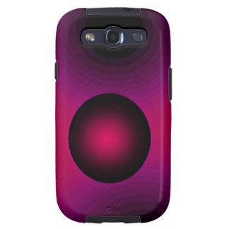 Púrpura de la suspensión del arte abstracto galaxy SIII fundas