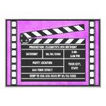 Púrpura de la tablilla de la fiesta de cumpleaños invitaciones personalizada