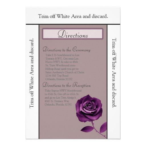 púrpura de la tarjeta de las direcciones 3.5x6 sub comunicados