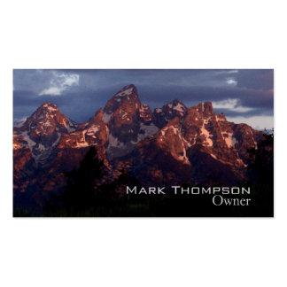Púrpura de la tarjeta de Tetons del negocio Tarjetas De Visita