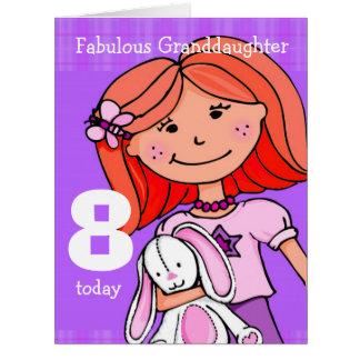 Púrpura de la tarjeta del cumpleaños del chica de
