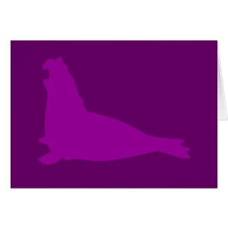 Púrpura de la tarjeta del sello de elefante