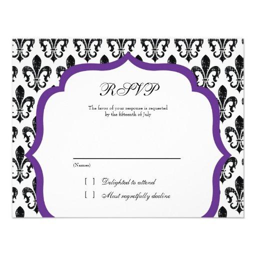 Púrpura de la tarjeta el | New Orleans el | de la  Invitacion Personal