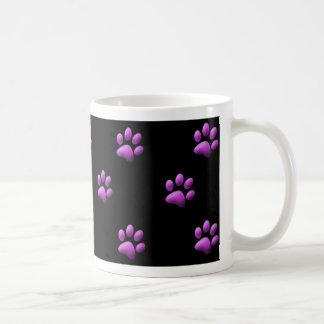 Púrpura de la taza de la impresión de la pata en