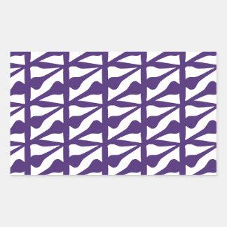 Púrpura de la teja pegatina rectangular