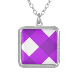 Púrpura de la tela escocesa 1 joyerias