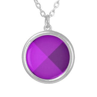 Púrpura de la tela escocesa 2 joyeria