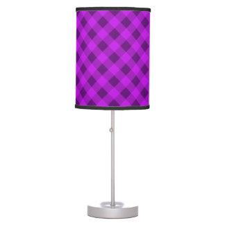 Púrpura de la tela escocesa 2 lámpara de escritorio