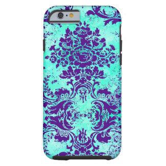 Púrpura de la turquesa del vintage de la funda de iPhone 6 tough