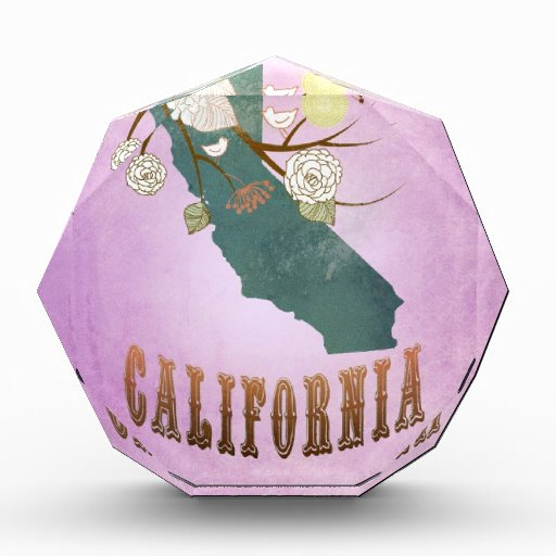 Púrpura de la uva del mapa del estado de Californi