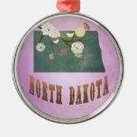 Púrpura de la uva del mapa del estado de Dakota de Ornamento Para Arbol De Navidad