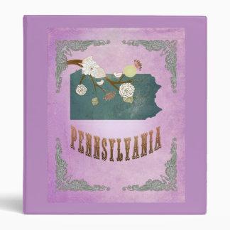 Púrpura de la uva del mapa del estado de Pennsylva