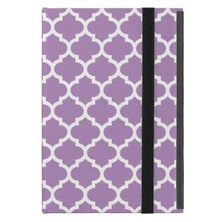 Púrpura de la violeta africana de Quatrefoil iPad Mini Carcasa
