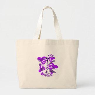 púrpura de las cosquillas de las cosquillas bolsa tela grande