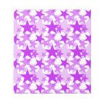 Púrpura de las estrellas 3 bloc de papel