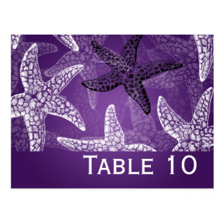 Púrpura de las estrellas de mar del número de la postal