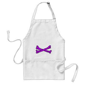 Púrpura de los huesos los regalos de Zazzle del MU Delantal
