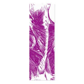 Púrpura de los músculos traseros el | de la tarjetas de visita mini