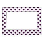 Púrpura de los puntos blancos/oscura marcos magneticos para fotos