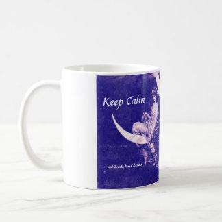 Púrpura de los rayos de luna de la bebida zurda taza