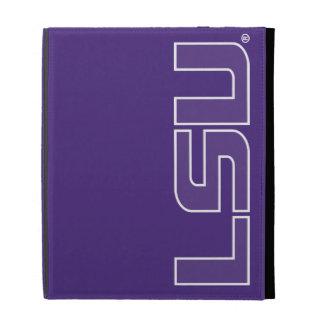 Púrpura de LSU con el esquema blanco