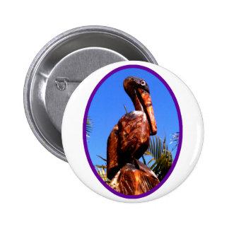 Púrpura de madera del pelícano o los regalos de Za Pins