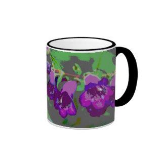 Púrpura de medianoche taza de dos colores
