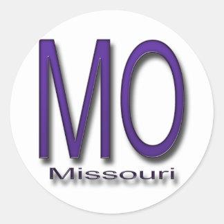 Púrpura de Missouri Etiqueta Redonda