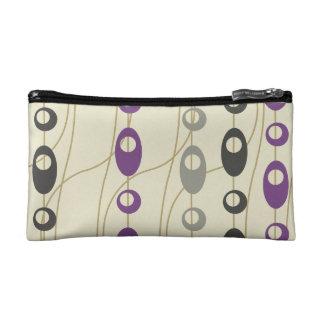 Púrpura de moda moderno y el gris gotea óvalos