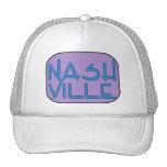 Púrpura de Nashville Gorras