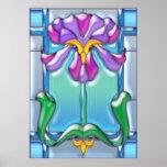 Púrpura de Nouveau del arte e iris de la lavanda Posters