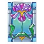 Púrpura de Nouveau del arte e iris de la lavanda Felicitacion
