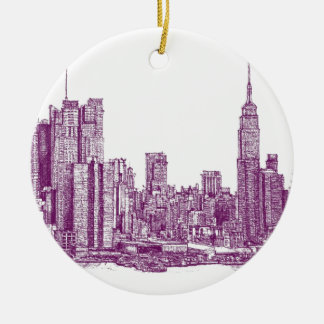 Púrpura de Nueva York Ornatos