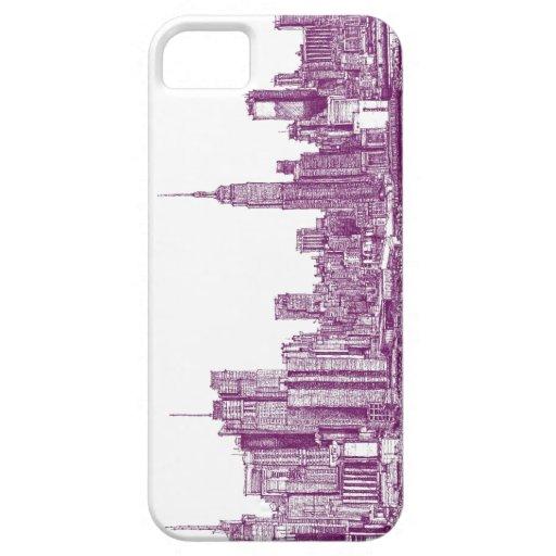 Púrpura de Nueva York iPhone 5 Case-Mate Cárcasa