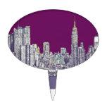 Púrpura de Nueva York NYC Figuras De Tarta