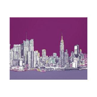 Púrpura de Nueva York NYC Impresiones En Lona